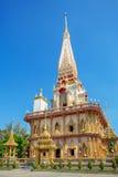 De Tempel van Chalong van Wat in Phuket Stock Fotografie