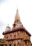 De Tempel van Chalong van Wat in Phuket Thailand Stock Fotografie