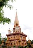 De Tempel van Chalong van Wat in Phuket Thailand Stock Foto's