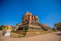 De tempel van Chedi luang Royalty-vrije Stock Foto