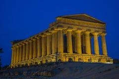 De tempel van Concordia Royalty-vrije Stock Foto