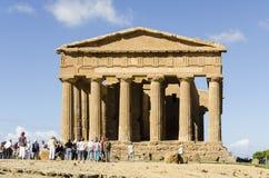 De tempel van Concordia in Agrigento, Sicilië Stock Fotografie