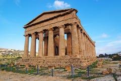 De tempel van Concordia in Agrigento, Sicilië, Italië Royalty-vrije Stock Afbeeldingen