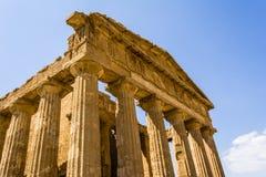 De tempel van Concordia Vallei van de Tempels, Agrigento op Sicilië, Italië Royalty-vrije Stock Fotografie