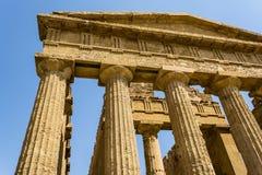 De tempel van Concordia Vallei van de Tempels, Agrigento op Sicilië, Italië Stock Afbeeldingen