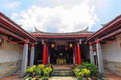 De Tempel van Confucius in de Nieuwe Stad van Taipeh Stock Foto