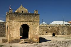 De tempel van de brand. Surakhany, Azerbaijan. Stock Afbeeldingen