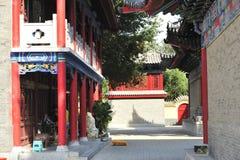 De tempel van de draakkoning, de het plaatsen zon Royalty-vrije Stock Afbeelding