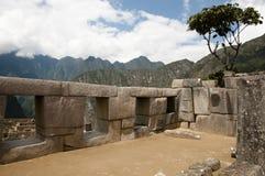 De Tempel van de Drie Vensters - Machu Picchu - Peru Stock Foto's