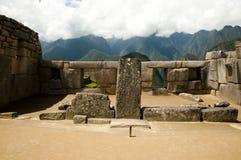 De Tempel van de Drie Vensters - Machu Picchu - Peru Stock Foto