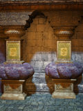 De tempel van de fantasie Stock Foto's