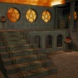 De tempel van de fantasie bij dageraad Royalty-vrije Stock Foto's