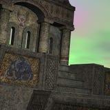De tempel van de fantasie bij dageraad Royalty-vrije Stock Afbeelding