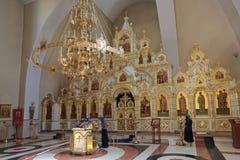 De tempel van de Heilige gelijke van de Apostelen Grote Prins Vladim Stock Afbeelding