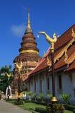 De tempel van de Kunst Lanna stock afbeelding