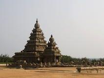 De tempel van de kust van Mahabalipuram, India Stock Afbeelding