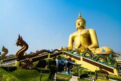 De Tempel van de leren riemthailand van Wat muang ANG Stock Fotografie