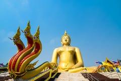 De Tempel van de leren riemthailand van Wat muang ANG Stock Afbeelding