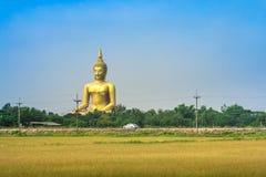 De Tempel van de leren riemthailand van Wat muang ANG Stock Foto's