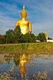 De Tempel van de leren riemthailand van Wat muang ANG Stock Afbeeldingen