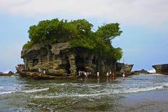 De tempel van de Partij van Tanah in Bali, Indonesië Royalty-vrije Stock Fotografie