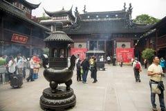 De Tempel van de stadsgod, of Chenghuang Miao, Shanghai Royalty-vrije Stock Afbeeldingen