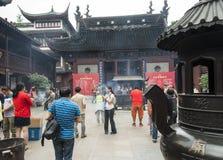 De Tempel van de stadsgod, of Chenghuang Miao, in Shanghai Stock Foto's