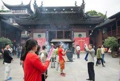 De Tempel van de stadsgod, of Chenghuang Miao, in Shanghai Royalty-vrije Stock Fotografie