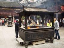 De Tempel van de stadsgod, of Chenghuang Miao, Shanghai Stock Afbeelding