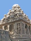 De tempel van de steen in Mahabalipuram Stock Fotografie