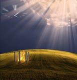 De Tempel van de tijd Stock Afbeelding