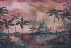 De Tempel van de waterverf stock illustratie