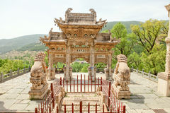 De tempel van de wutaiberg in China Stock Afbeelding