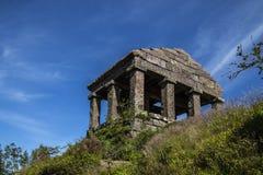 De tempel van Donon bevindt zich bovenop Onderstel Donon in de Vogezen, Frankrijk Royalty-vrije Stock Foto