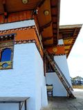 De tempel van Drukwangyal bij Dochula-Pas, Bhutan stock fotografie