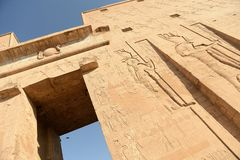 De Tempel van Edfu in Egypte royalty-vrije stock foto's