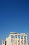 De tempel van Erechtheon op Akropolis royalty-vrije stock foto's