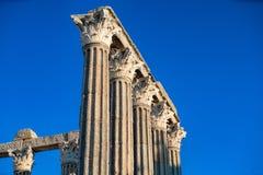 De tempel van Evora is één van de historische plaatsen van citty van E royalty-vrije stock afbeelding