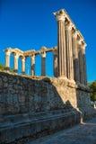 De tempel van Evora is één van de historische plaatsen van citty van E stock afbeelding