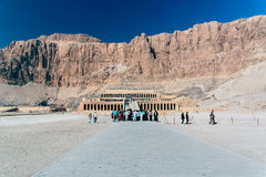 De Tempel van faraohatshepsut, Egypte Royalty-vrije Stock Afbeelding