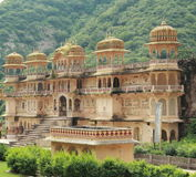 De Tempel van Galtaji, Jaipur.India. Stock Foto's