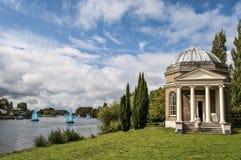 De Tempel van Garrick aan Shakespeare, Hampton, Surrey, Engeland, het UK stock afbeeldingen