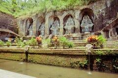 De tempel van Gunungkawi in Bali Stock Afbeelding