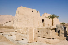 De Tempel van Habu van Medinet Stock Foto