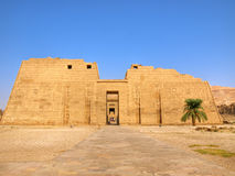 De tempel van Habu van Medinet Royalty-vrije Stock Foto's