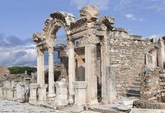 De tempel van Hadrian, Ephesos, Turkije Stock Foto's