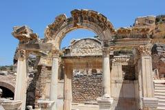 De Tempel van Hadrian in Ephesus Royalty-vrije Stock Foto