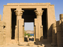 De tempel van Hathor Stock Afbeelding