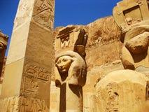 De Tempel van Hatshepsut - Detail Royalty-vrije Stock Afbeelding