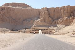 De tempel van Hatshepsut dichtbij Luxor in Egyp Royalty-vrije Stock Afbeeldingen